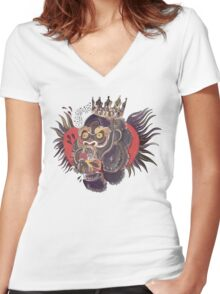 Conor Mcgregors Gorilla Tattoo Women's Fitted V-Neck T-Shirt