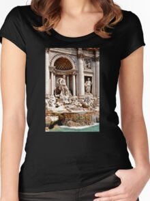 Trevi Fountain Women's Fitted Scoop T-Shirt