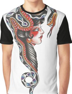 Snake Head Lady Graphic T-Shirt