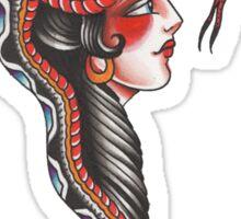 Snake Head Lady Sticker