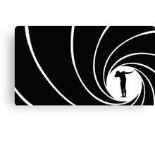 Cam Newton James Bond Dab Mash-up Canvas Print