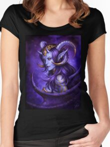 Gold and Violet Women's Fitted Scoop T-Shirt