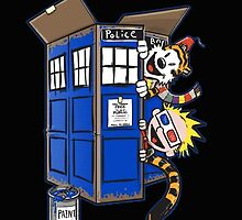 Calvin And Hobbes Tardis dr Who by HappyDay93