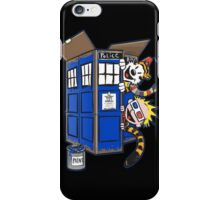 Calvin And Hobbes Tardis dr Who iPhone Case/Skin