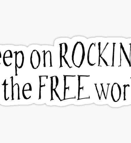 Rock Hippie Freedom Sticker