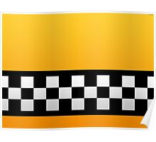Taxi squares and stripes  Poster