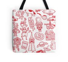 RB Germany Pattern Red Tote Bag