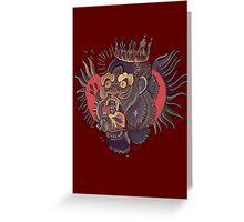 Conor Mcgregor Gorilla Tattoo (maroon) Greeting Card