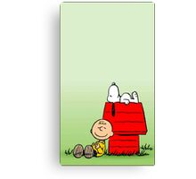 Snoopy dream And Charlie Brown Canvas Print