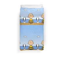 Snoopy And Charlie Brown quality time Duvet Cover