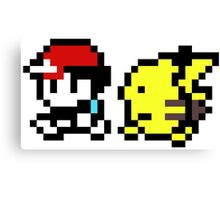 pokemon yellow 8 bit Canvas Print