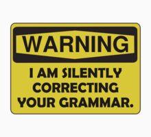 Warning Grammar Kids Tee