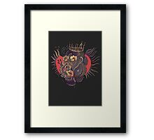 Conor Mcgregor Gorilla Tattoo (grey) Framed Print