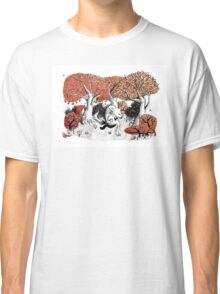 Little Red Riding Hood Print with wolf, forest Classic T-Shirt