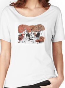 Little Red Riding Hood Print with wolf, forest Women's Relaxed Fit T-Shirt