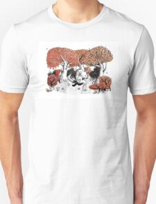 Little Red Riding Hood Print with wolf, forest Unisex T-Shirt