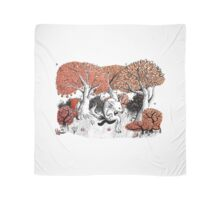 Little Red Riding Hood Print with wolf, forest Scarf