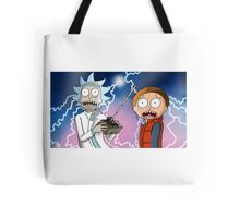 Rick and Morty go back to the future Tote Bag
