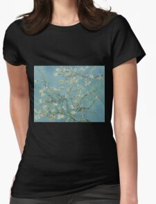 Almond blossom - Vincent Van Gogh  Impressionism  Famous Paintings Womens Fitted T-Shirt