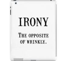 Irony Wrinkly iPad Case/Skin