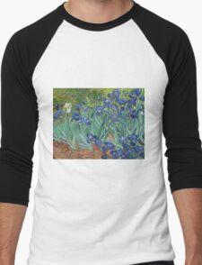 Vincent Van Gogh - Irises.  Van Gogh - Irises Impressionism Flowers 1889 Men's Baseball ¾ T-Shirt