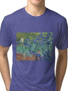 Vincent Van Gogh - Irises.  Van Gogh - Irises Impressionism Flowers 1889 Tri-blend T-Shirt