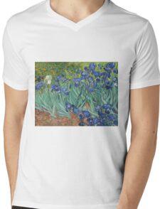 Vincent Van Gogh - Irises.  Van Gogh - Irises Impressionism Flowers 1889 Mens V-Neck T-Shirt