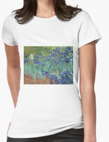 Vincent Van Gogh - Irises.  Van Gogh - Irises Impressionism Flowers 1889 Womens Fitted T-Shirt