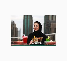 Emirati woman sitting by the canal Unisex T-Shirt