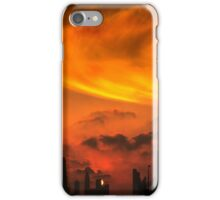 A sunset view of Dubai downtown in a magnificent cloudy evening. iPhone Case/Skin