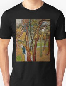 Vincent Van Gogh - The garden of Saint Paul's Hospital, The fall of the leaves October, Impressionism 1889 - 1889 Unisex T-Shirt