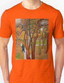 Vincent Van Gogh - The garden of Saint Paul's Hospital, The fall of the leaves October 1889 - 1889 T-Shirt