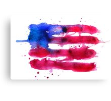 Abstract watercolor flag of the USA Canvas Print
