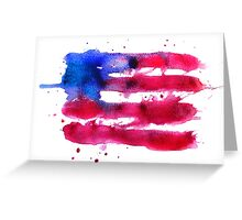 Abstract watercolor flag of the USA Greeting Card