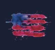 Abstract watercolor flag of the USA Kids Tee