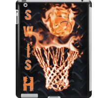 Fire basketball going through flames net iPad Case/Skin