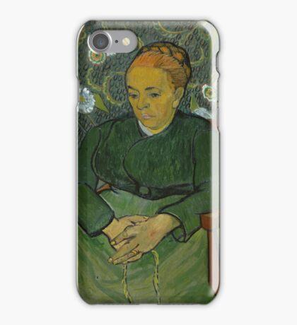 Vincent Van Gogh - La berceuse, Portrait of Madame Roulin, December 1888 - January 1889 iPhone Case/Skin