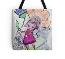 Fairy with Flower Tote Bag