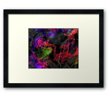 The Charm of Contrast Framed Print