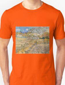 Vincent Van Gogh - Landscape at Saint-Rémy, Enclosed Field with Peasant 1889 T-Shirt