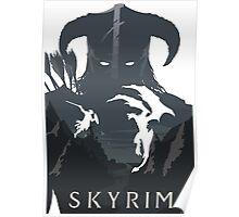SKYRIM (white) Poster