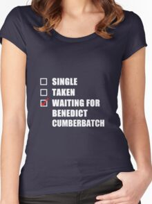 Waiting For Benedict Cumberbatch Women's Fitted Scoop T-Shirt