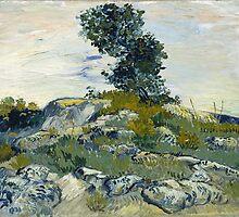 Vincent Van Gogh - The Rocks, 1888 by famousartworks