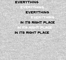 Everything In It's Right Place Unisex T-Shirt