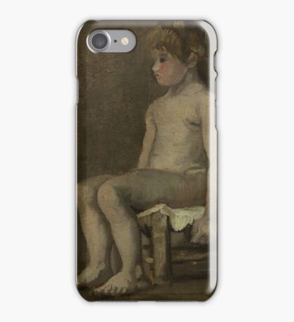 Vincent Van Gogh - Nude girl, seated, April 1886 - June 1886 iPhone Case/Skin