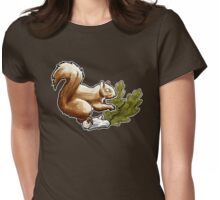 Tom Squirrel Womens Fitted T-Shirt