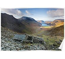 A view to die for from Warnscale Bothy Buttermere English Lake District Poster