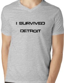 I survived Detroit Mens V-Neck T-Shirt