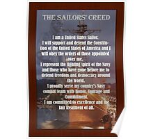 Navy Sailor Creed Poster Poster