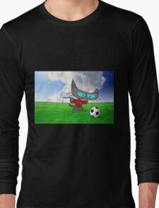 Cat Soccer Star Long Sleeve T-Shirt